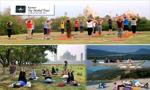 Yoga with Delhi Agra Tour